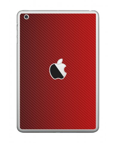 RED TEXTURED CARBON FIBER Apple iPad Mini A1432 SKIN