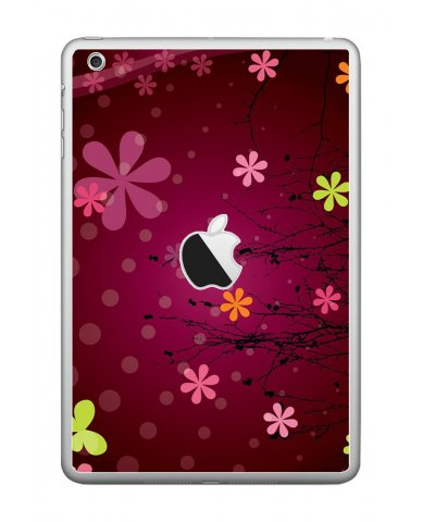 RETRO PINK FLOWERS Apple iPad Mini A1432  SKIN
