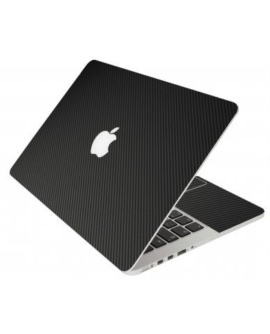 BLACK TEXTURED CARBON FIBER MacBook Pro 12 Retina A1534 Laptop Skin