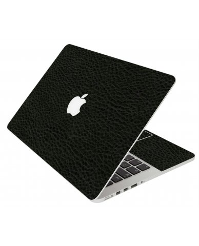 BLACK LEATHER MacBook Pro 12 Retina A1534 Laptop Skin