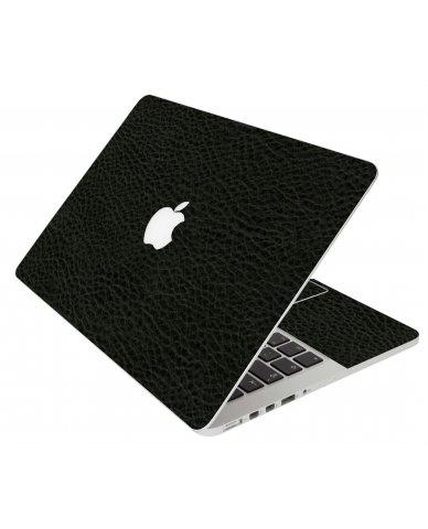 BLACK LEATHER MacBook Pro 12 Retina A1534 Laptop Skin