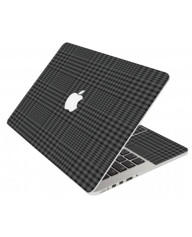 BLACK PLAID MacBook Pro 12 Retina A1534 Laptop Skin