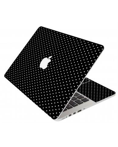 BLACK POLKA DOTS MacBook Pro 12 Retina A1534 Laptop Skin