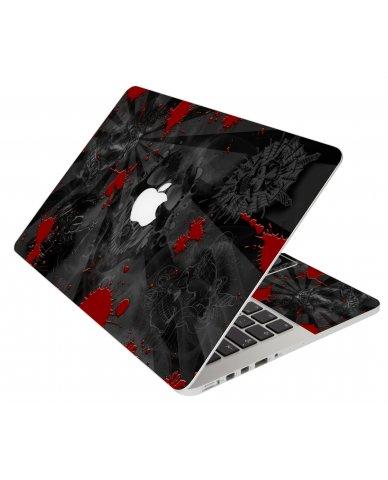 BLACK SKULLS RED MacBook Pro 12 Retina A1534 Laptop Skin