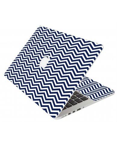 BLUE WAVY CHEVRON MacBook Pro 12 Retina A1534 Laptop Skin