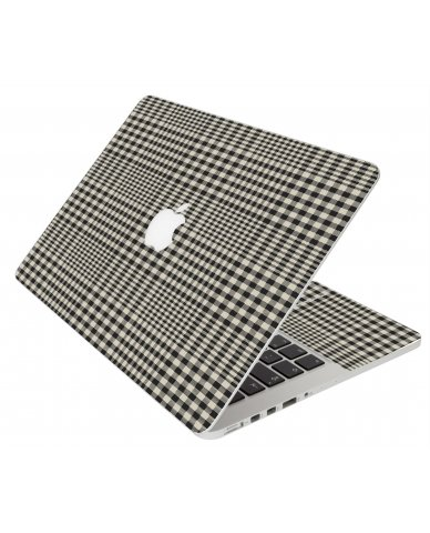 GREY PLAID MacBook Pro 12 Retina A1534 Laptop Skin
