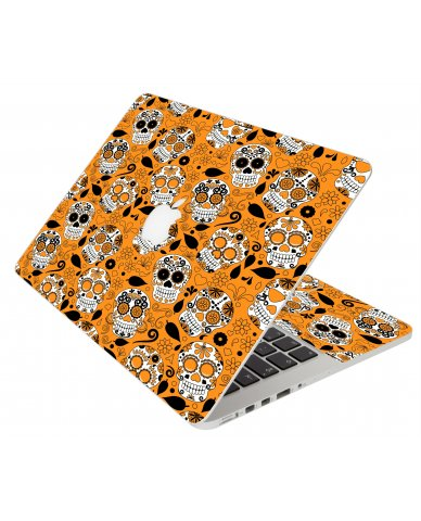 ORANGE SUGAR SKULLS MacBook Pro 12 Retina A1534 Laptop Skin