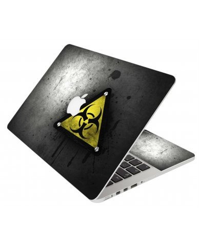 BLACK CAUTION MacBook Pro 13 Retina A1425 Laptop Skin