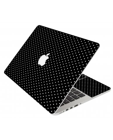 BLACK POLKA DOTS MacBook Pro 13 Retina A1425 Laptop Skin