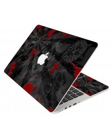 BLACK SKULLS RED MacBook Pro 13 Retina A1425 Laptop Skin