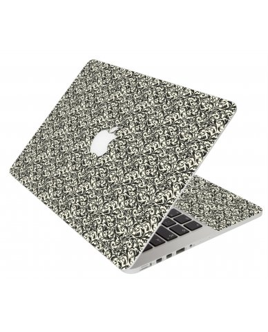 BLACK VERSAILLES MacBook Pro 13 Retina A1425 Laptop Skin