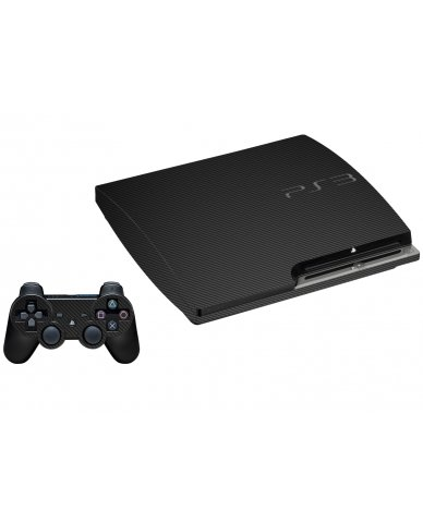 BLACK TEXTURED CARBON FIBER PLAYSTATION 3 GAME CONSOLE SKIN