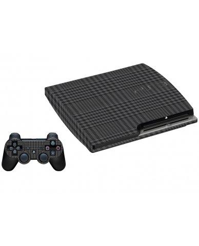 BLACK PLAID PLAYSTATION 3 GAME CONSOLE SKIN