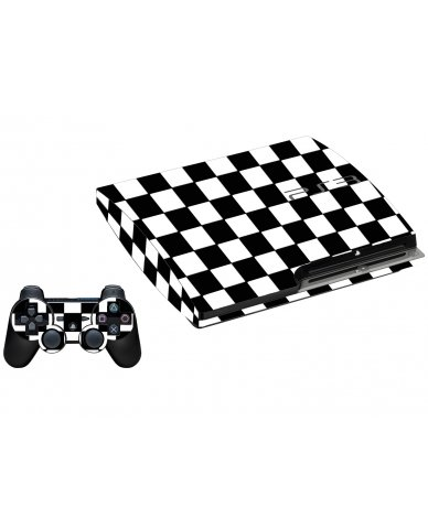 CHECKERED PLAYSTATION 3 GAME CONSOLE SKIN