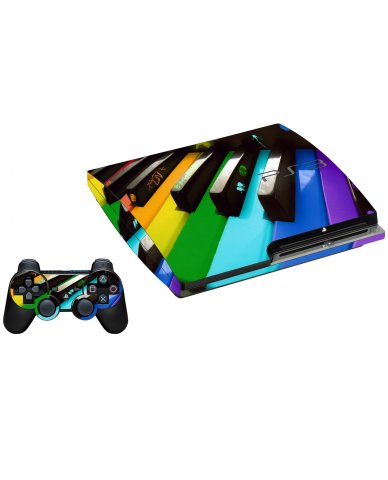 COLORFUL PIANO PLAYSTATION 3 GAME CONSOLE SKIN