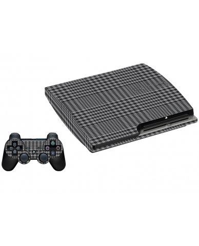DARKEST GREY PLAID PLAYSTATION 3 GAME CONSOLE SKIN