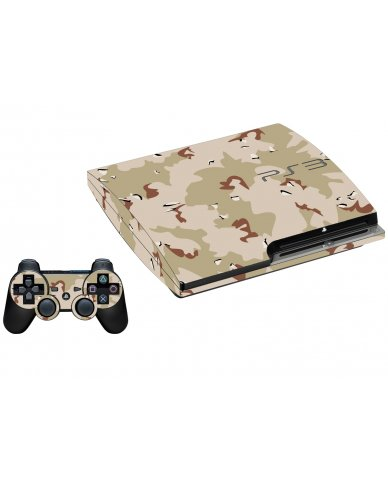 DESERT CAMO PLAYSTATION 3 GAME CONSOLE SKIN
