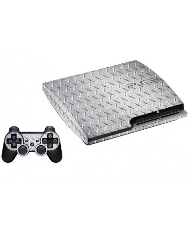 DIAMOND PLATE PLAYSTATION 3 GAME CONSOLE SKIN