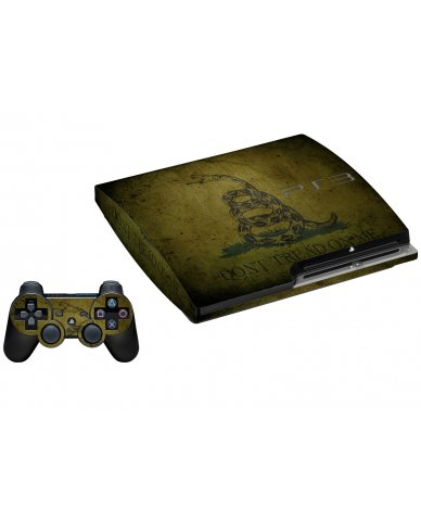 GREEN DONT TREAD ON ME PLAYSTATION 3 GAME CONSOLE SKIN