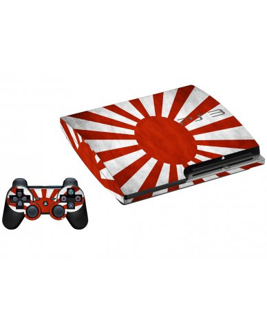 JAPANESE FLAG PLAYSTATION 3 GAME CONSOLE SKIN