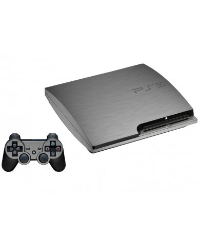 MTS#2 TEXTURED SILVER PLAYSTATION 3 GAME CONSOLE SKIN