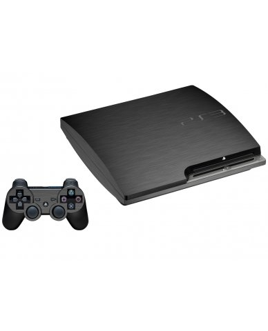 MTS#3 TEXTURED GUN METAL PLAYSTATION 3 GAME CONSOLE SKIN