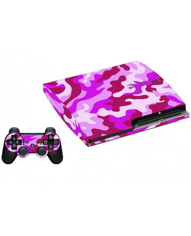 PINK CAMO PLAYSTATION 3 GAME CONSOLE SKIN