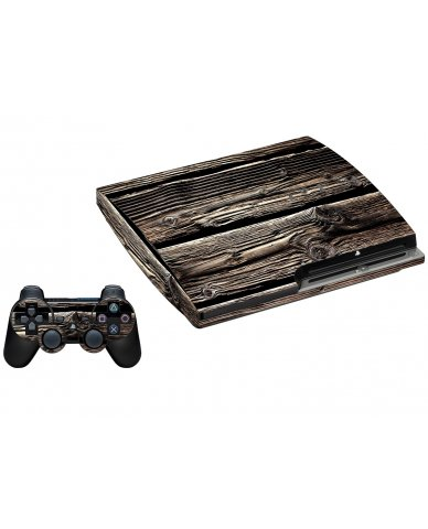 WOOD PLAYSTATION 3 GAME CONSOLE SKIN