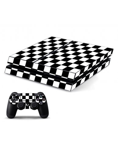 CHECKERED PLAYSTATION 4 GAME CONSOLE SKIN