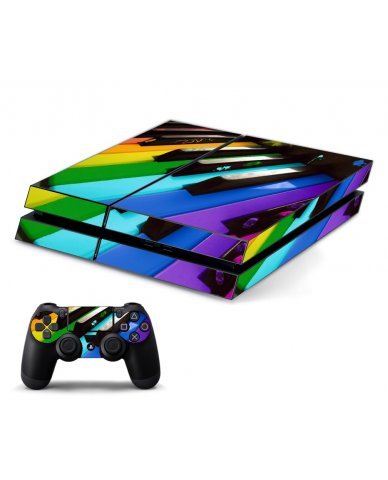 COLORFUL PIANO PLAYSTATION 4 GAME CONSOLE SKIN