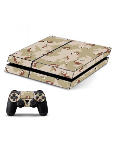DESERT CAMO PLAYSTATION 4 GAME CONSOLE SKIN