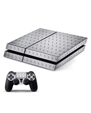 DIAMOND PLATE PLAYSTATION 4 GAME CONSOLE SKIN