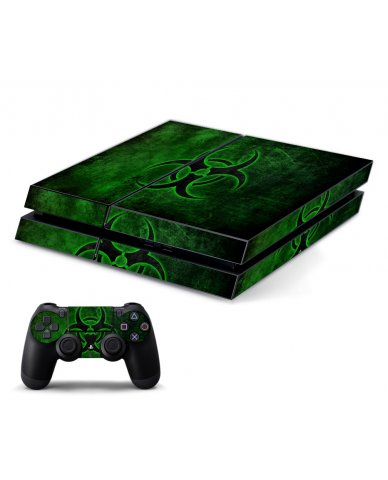 GREEN BIOHAZARD PLAYSTATION 4 GAME CONSOLE SKIN