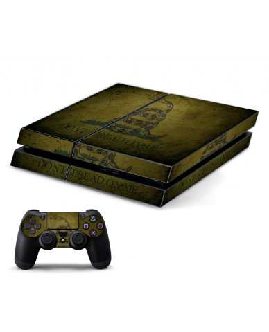 GREEN DONT TREAD ON ME PLAYSTATION 4 GAME CONSOLE SKIN