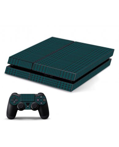 GREEN PLAID PLAYSTATION 4 GAME CONSOLE SKIN