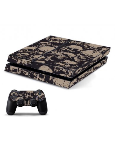 GRUNGE SKULLS PLAYSTATION 4 GAME CONSOLE SKIN