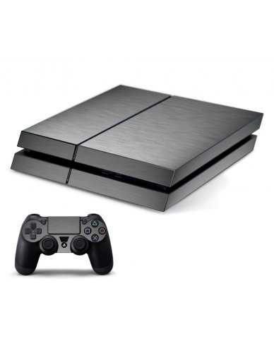 MTS#2 TEXTURED SILVER PLAYSTATION 4 GAME CONSOLE SKIN