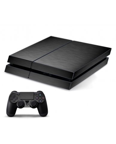 MTS#3 TEXTURED GUN METAL PLAYSTATION 4 GAME CONSOLE SKIN