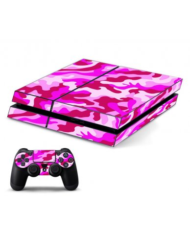 PINK CAMO PLAYSTATION 4 GAME CONSOLE SKIN