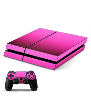 PINK TEXTURED CARBON FIBER PLAYSTATION 4 GAME CONSOLE SKIN