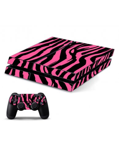 PINK ZEBRA PLAYSTATION 4 GAME CONSOLE SKIN