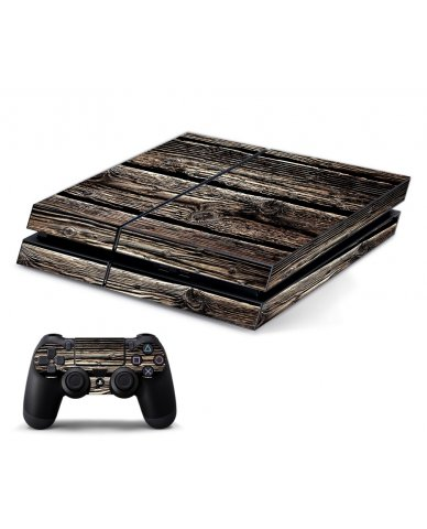 WOOD PLAYSTATION 4 GAME CONSOLE SKIN