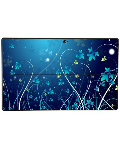 BLUE FLOWER Microsoft Surface Pro Skin