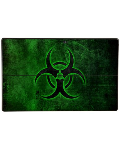 GREEN BIOHAZARD Microsoft Surface Pro Skin
