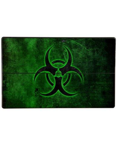 GREEN BIOHAZARD Microsoft Surface Pro Skin