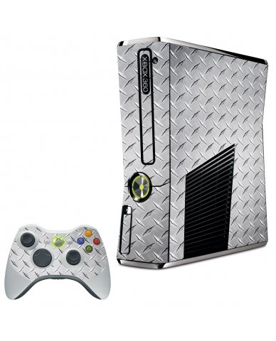 DIAMOND PLATE XBOX 360 SLIM GAME CONSOLE SKIN