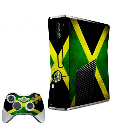 JAMAICAN FLAG XBOX 360 SLIM GAME CONSOLE SKIN