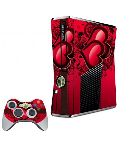 LOVE HEART XBOX 360 SLIM GAME CONSOLE SKIN