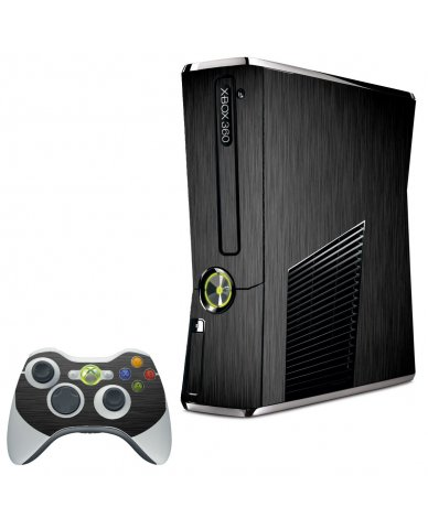 MTS TEXTURED BLACK XBOX 360 SLIM GAME CONSOLE SKIN