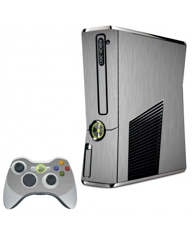 MTS#2 TEXTURED SILVER XBOX 360 SLIM GAME CONSOLE SKIN